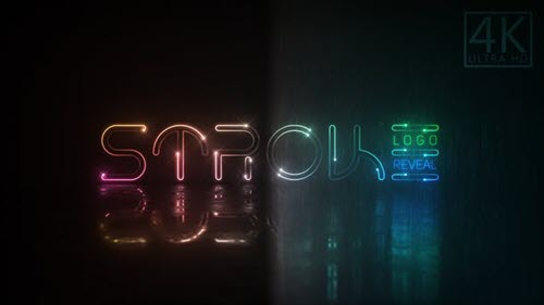 Neon Stroke Logo - 23118199 - Project for After Effects