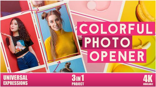 Colorful Photo Opener - 25906271 - Project for After Effects