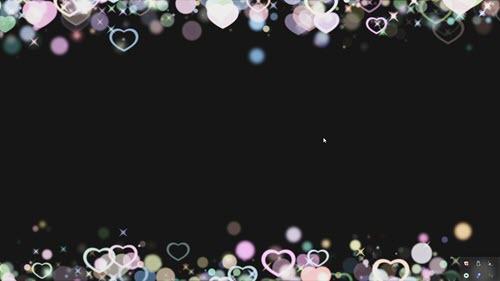 Свадебный футаж- Сердца с альфоканалом