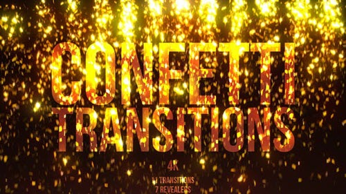 Gold Confetti Transitions - 21718556 (Videohive)