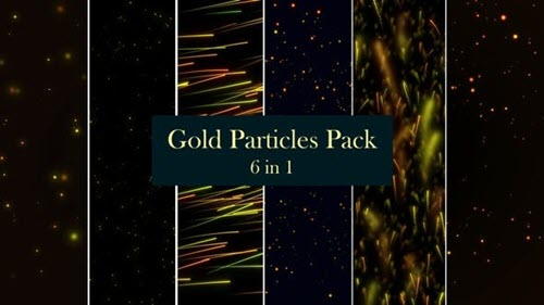 Gold Particles Pack - 6 in 1 - 26510908 (Videohive)