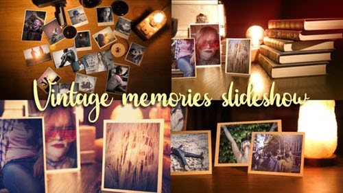Vintage Memories Photo Slideshow - 26512150 - Project for After Effects