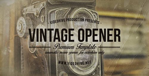 Vintage Opener Two - Project for After Effects (Videohive)