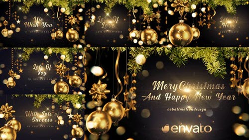Golden Christmas Wishes 4K - 29651275 - Project for After Effects