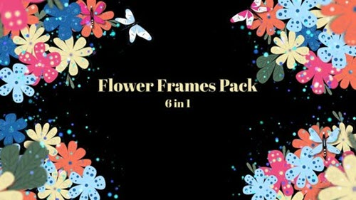 Flower Frames - 6 In 1 - 30559511 - Motion Graphics