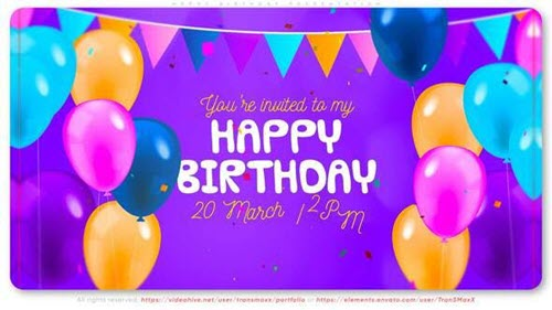 Happy Birthday Presentation - 32203483 - Project for After Effects
