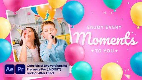 Happy Birhday - 34253292 - After Effects & Premiere Pro